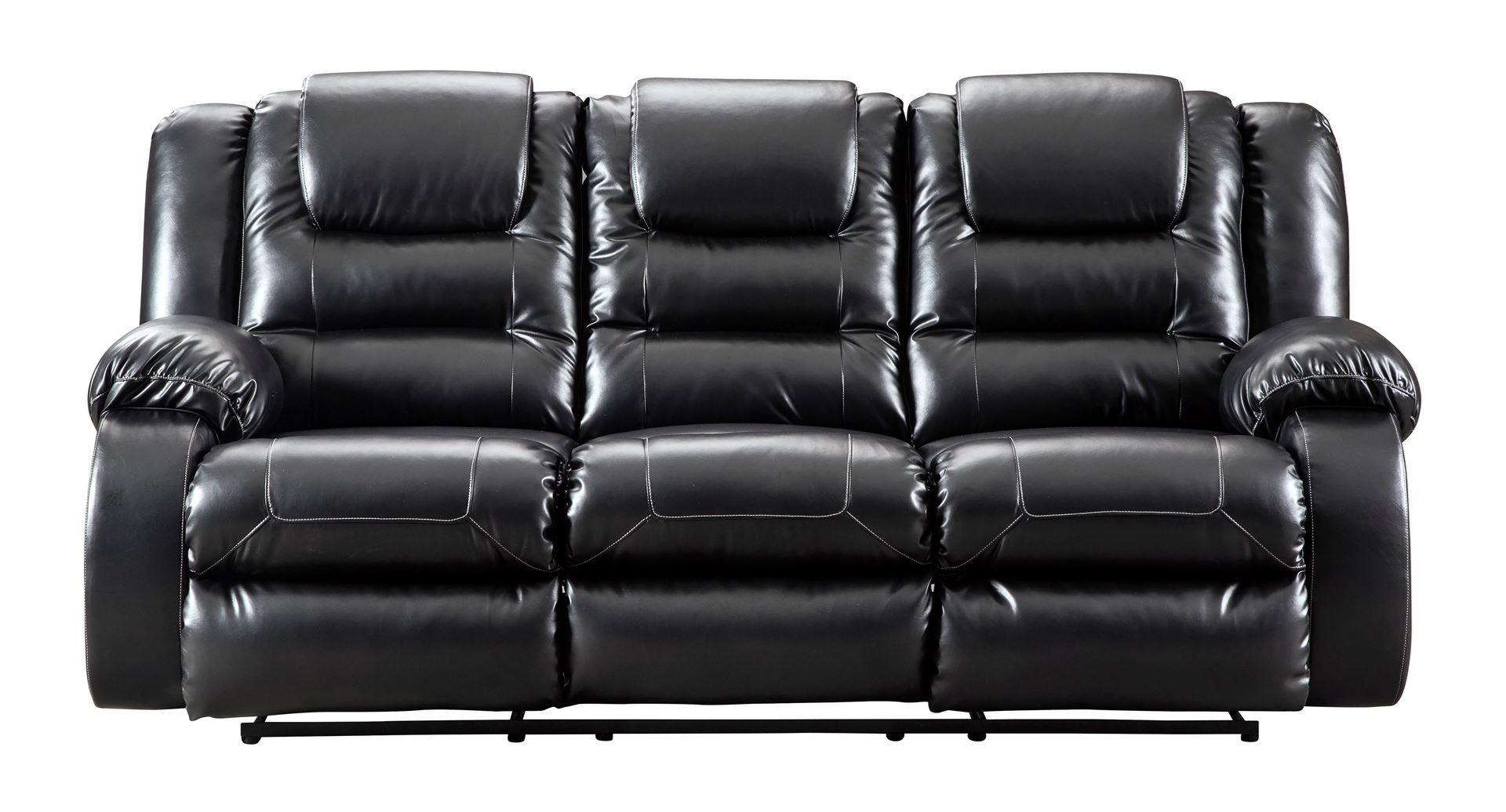 Vacherie Black Reclining Sofa Free Shipping Marjen Of