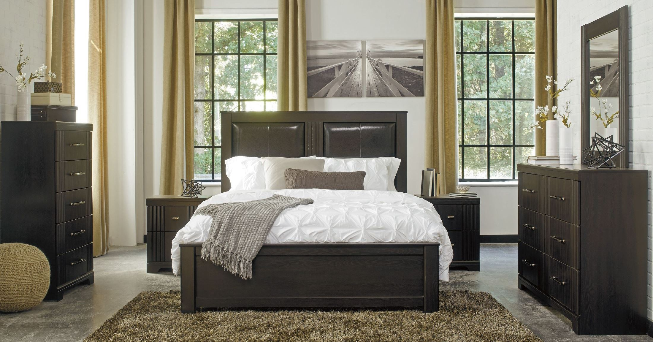 Ashley Tadlyn 3 Piece Bedroom Set in Dark Brown CLEARANCE ...