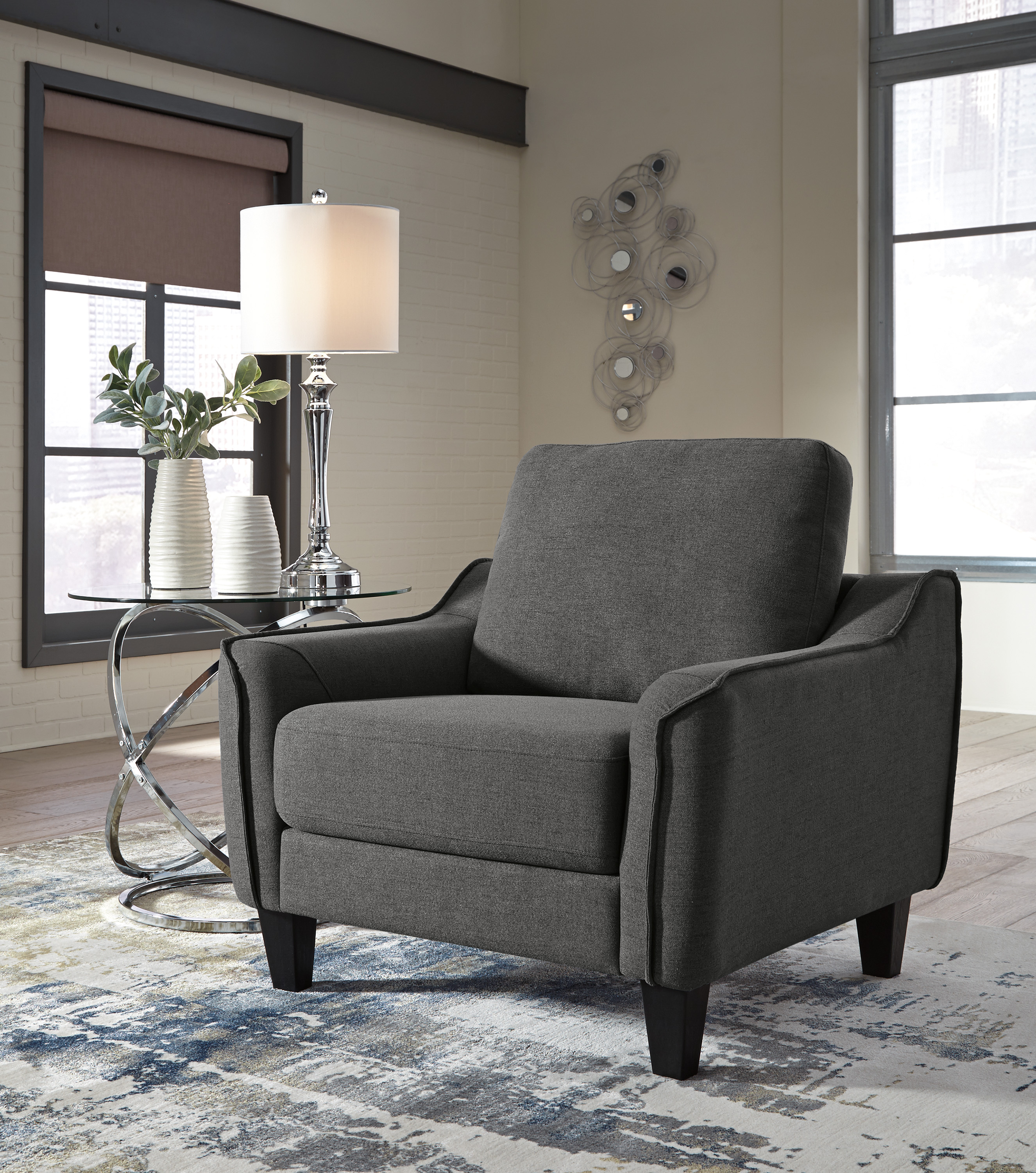 Cheap Furniture Delivered: Jarreau Gray Sofa Chaise Sleeper FREE DELIVERY! CLEARANCE
