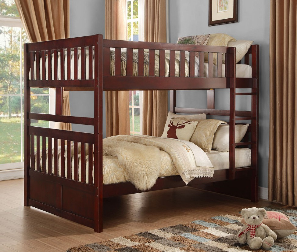 Rowe B2013 Full Full Bunk Bed In Dark Cherry By