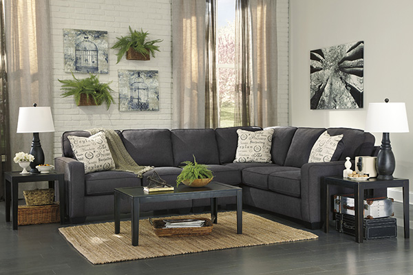 Dark Gray Sectional Living Room