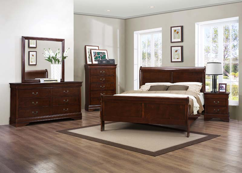 Mayville Sleigh 4 Piece Bedroom Set Marjen Of Chicago Chicago Discount Furniture