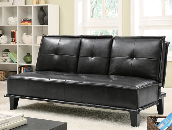 black faux leather marjen of chicago chicago discount furniture