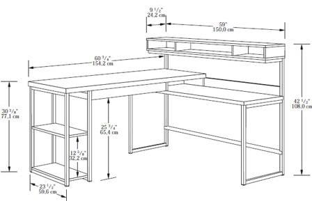 Select Collection L Shaped Desk Marjen Of Chicago