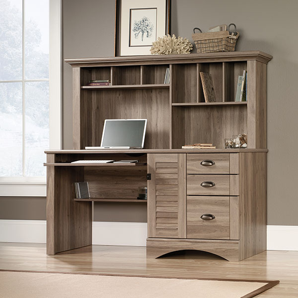 Discount Furniture Websites: Harbor View Collection Computer Desk With Hutch