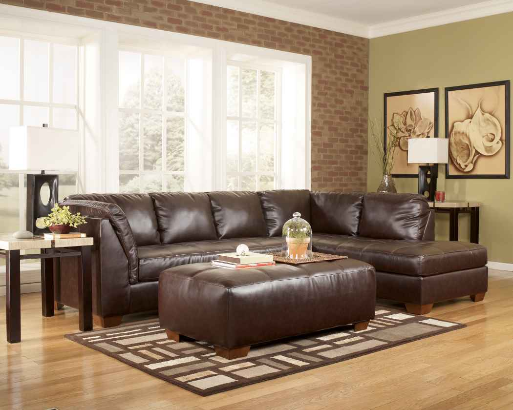 Durablend Mahogany Sectional Manager Special Clearance
