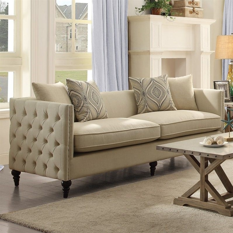 Cheap Furniture Delivered: Claxton Beige Sofa FREE DELIVERY