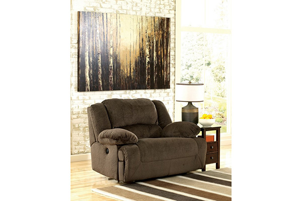 Toletta Chocolate Two Seat Reclining Sofa By Signature