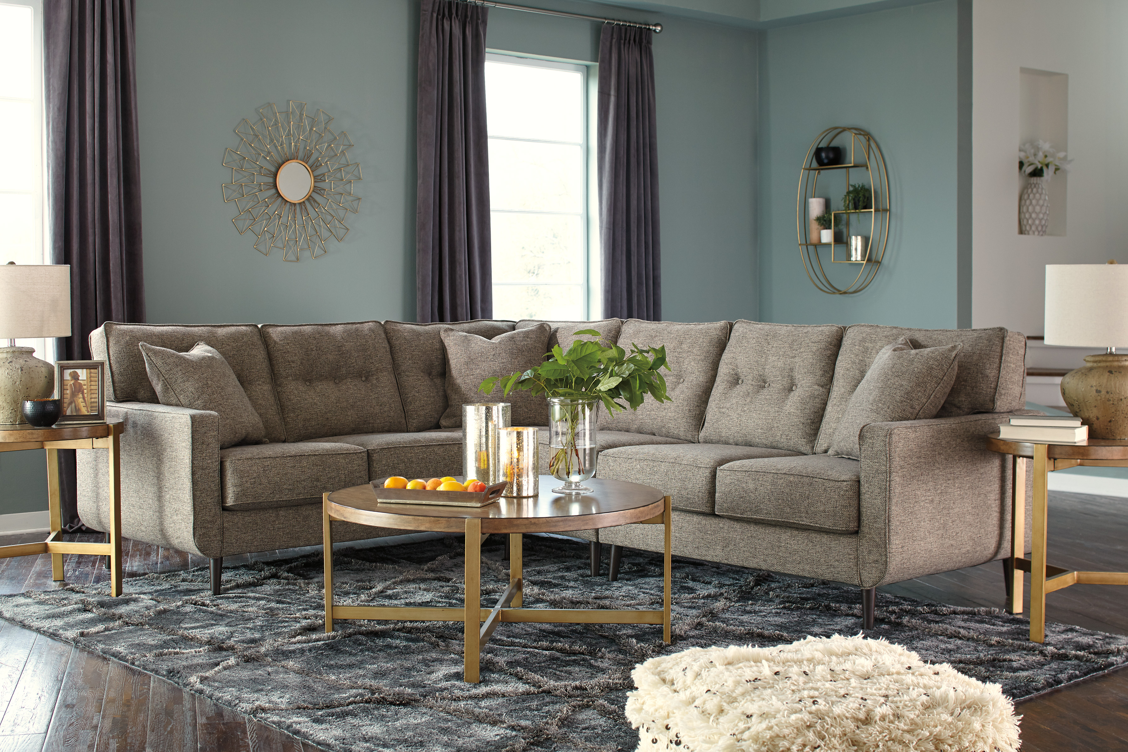 Dahra Jute 2 Piece Sectional Free Delivery 50 Off