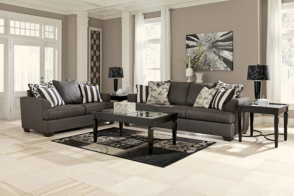 Levon Charcoal Queen Sofa Sleeper With Memory Foam Mattress By Signature Design By Ashley