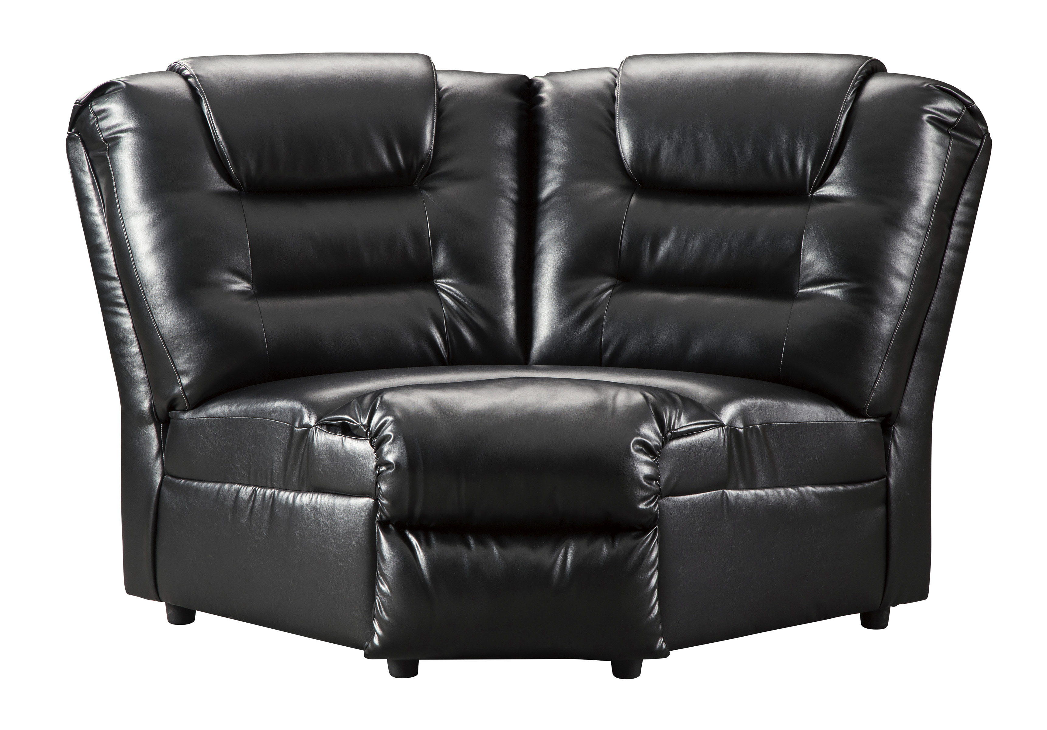 Vacherie 3-Piece Black Reclining Sectional FREE SHIPPING ...