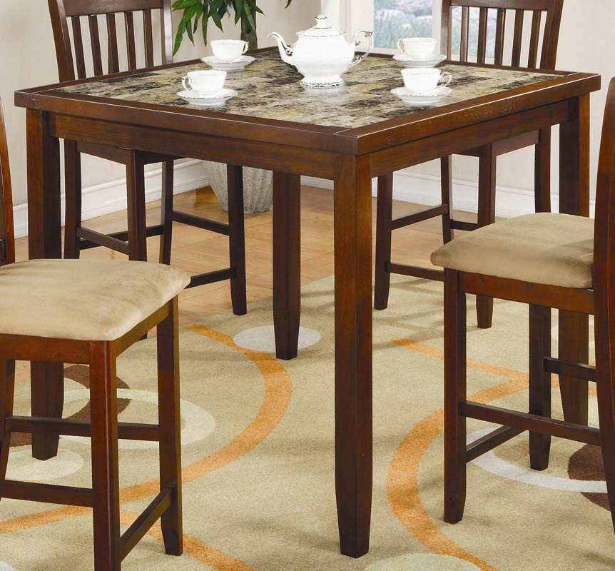 Normandie 5 Piece Square Counter Height Dining Set