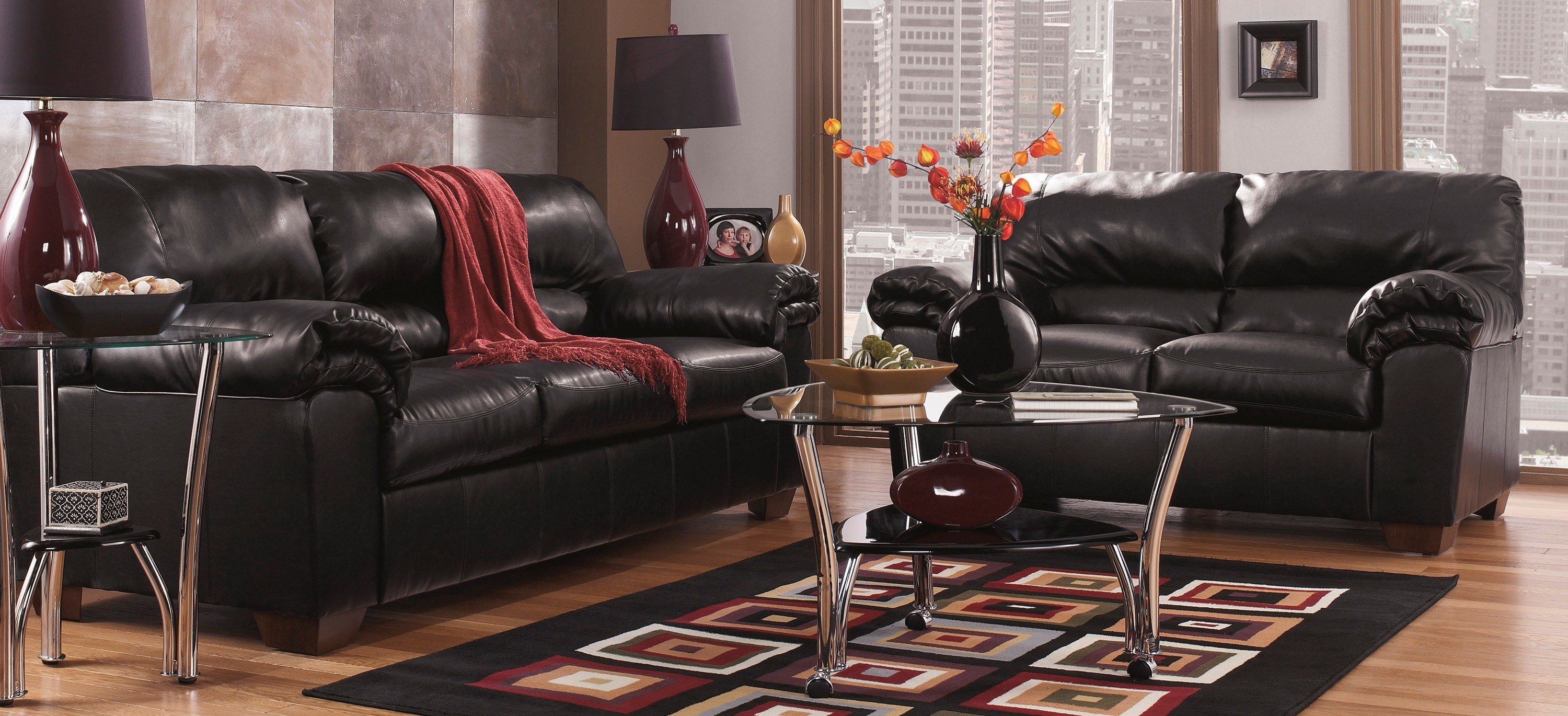 Commando Black Living Room Set Marjen Of Chicago