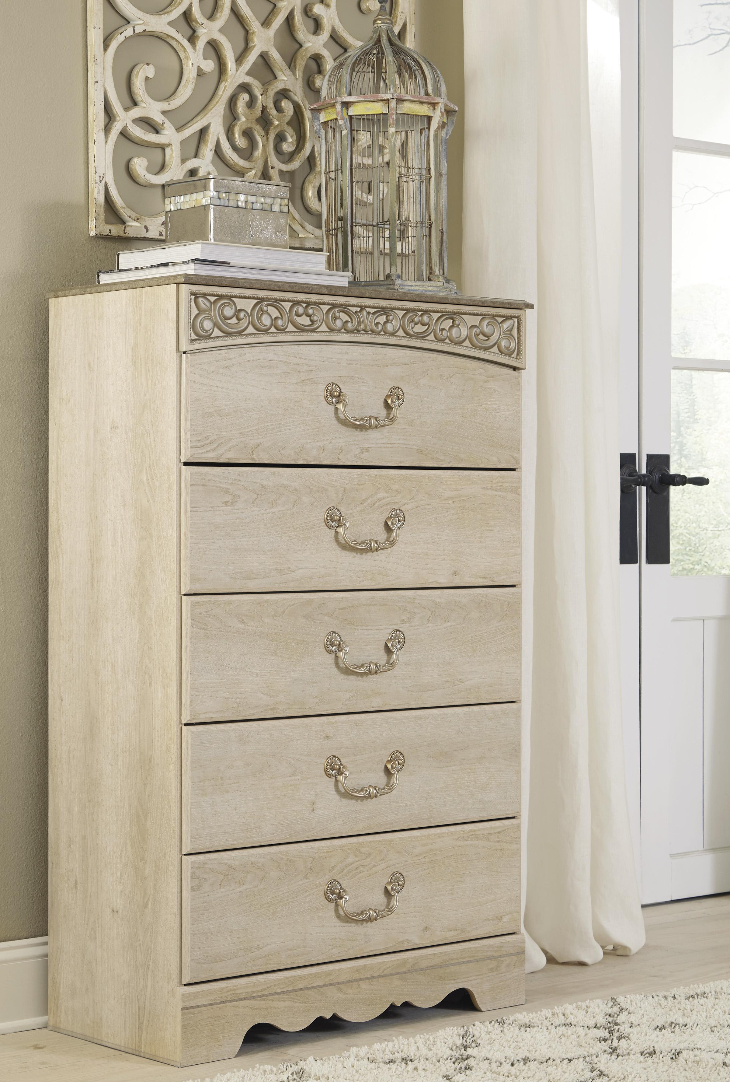 Catalina Antique White 3 Piece Bedroom Set Marjen Of