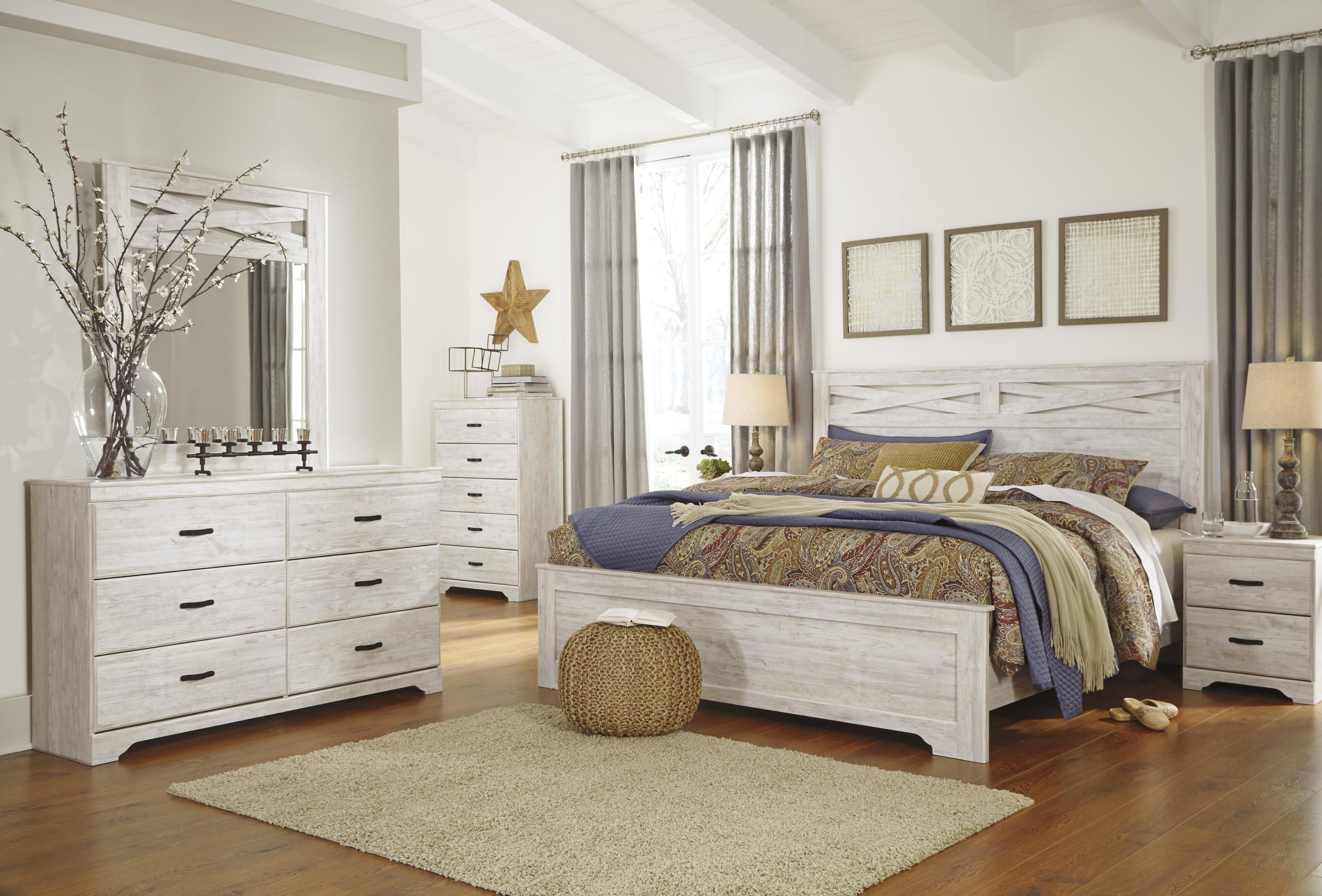 Briartown whitewash bedroom set marjen of chicago chicago discount furniture for Whitewash bedroom furniture sets