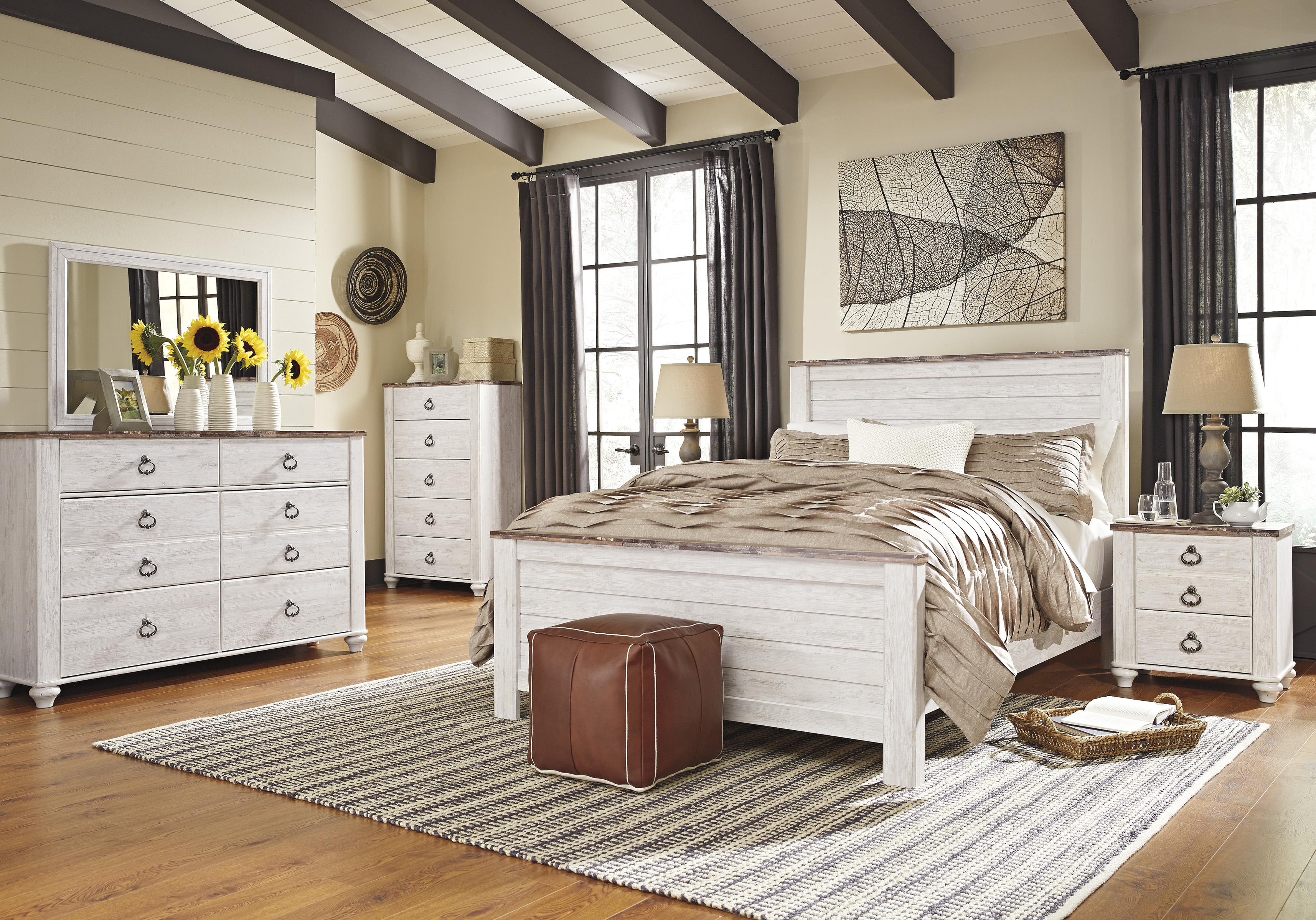 Willowton Whitewash Bedroom Set Clearance Sale Marjen