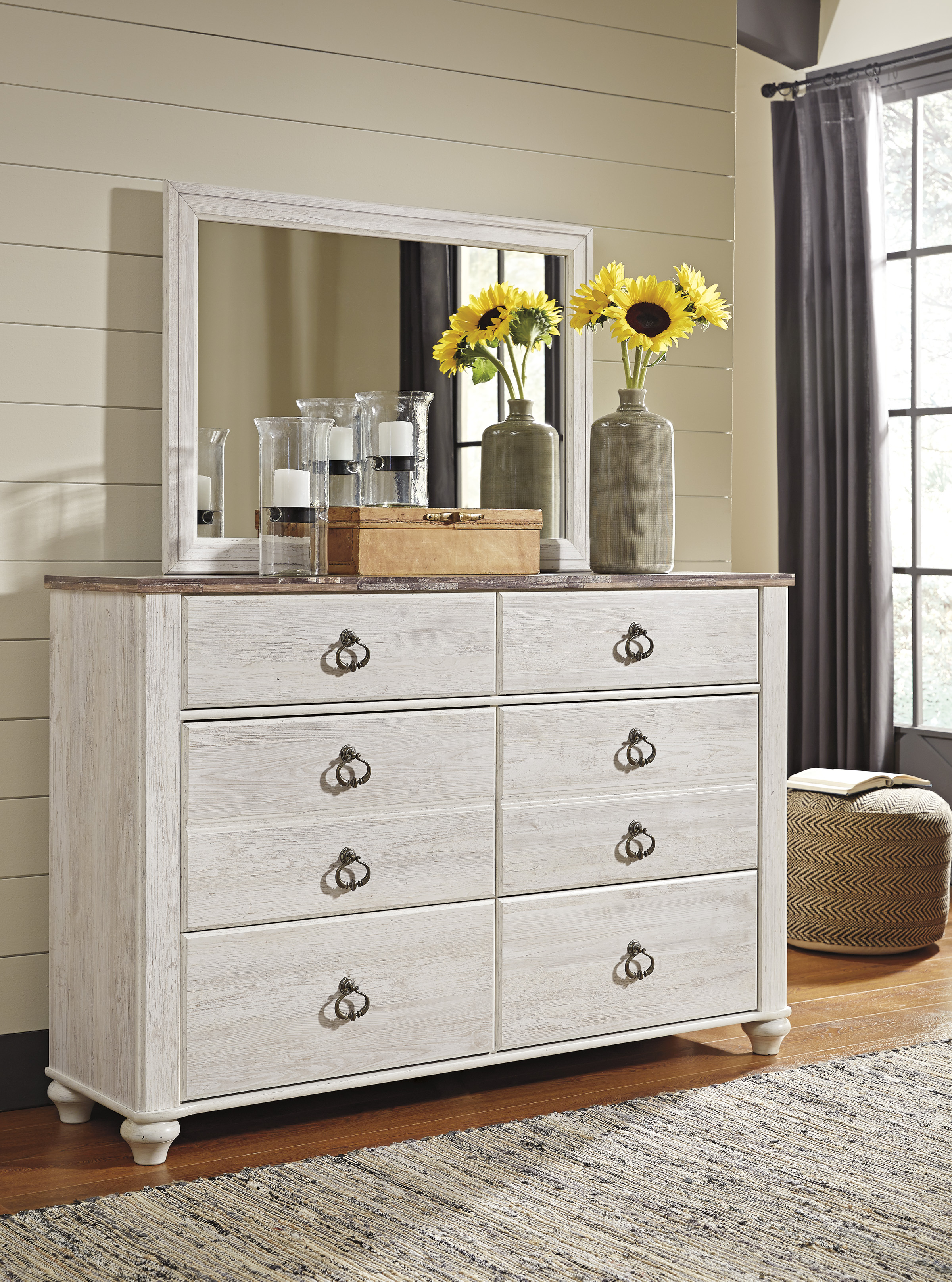 Willowton Whitewash Bedroom Set Clearance Sale Marjen Chicago Discount Furniture