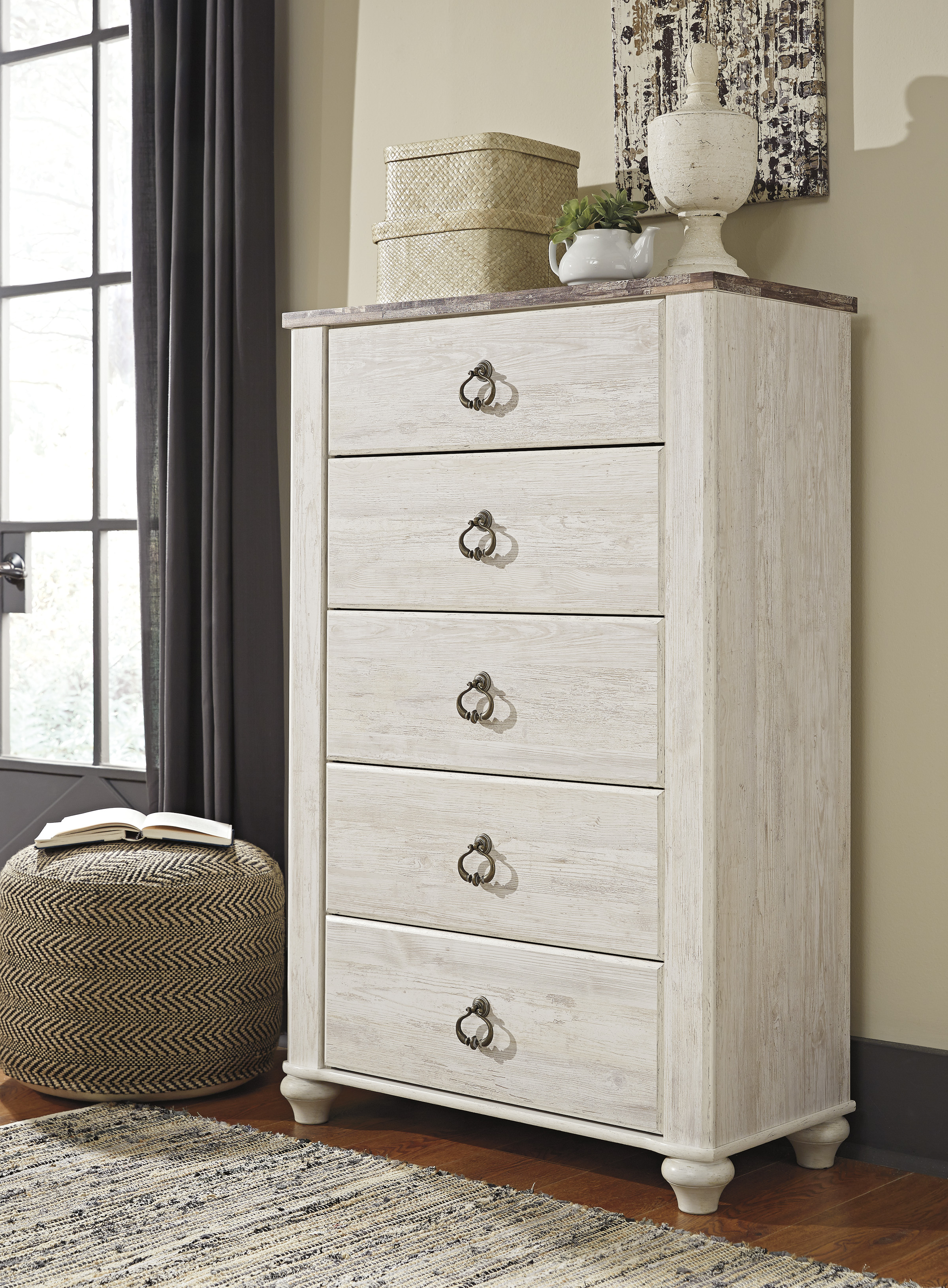 Willowton Whitewash Bedroom Set Clearance Sale Marjen Of Chicago Chicago Discount Furniture