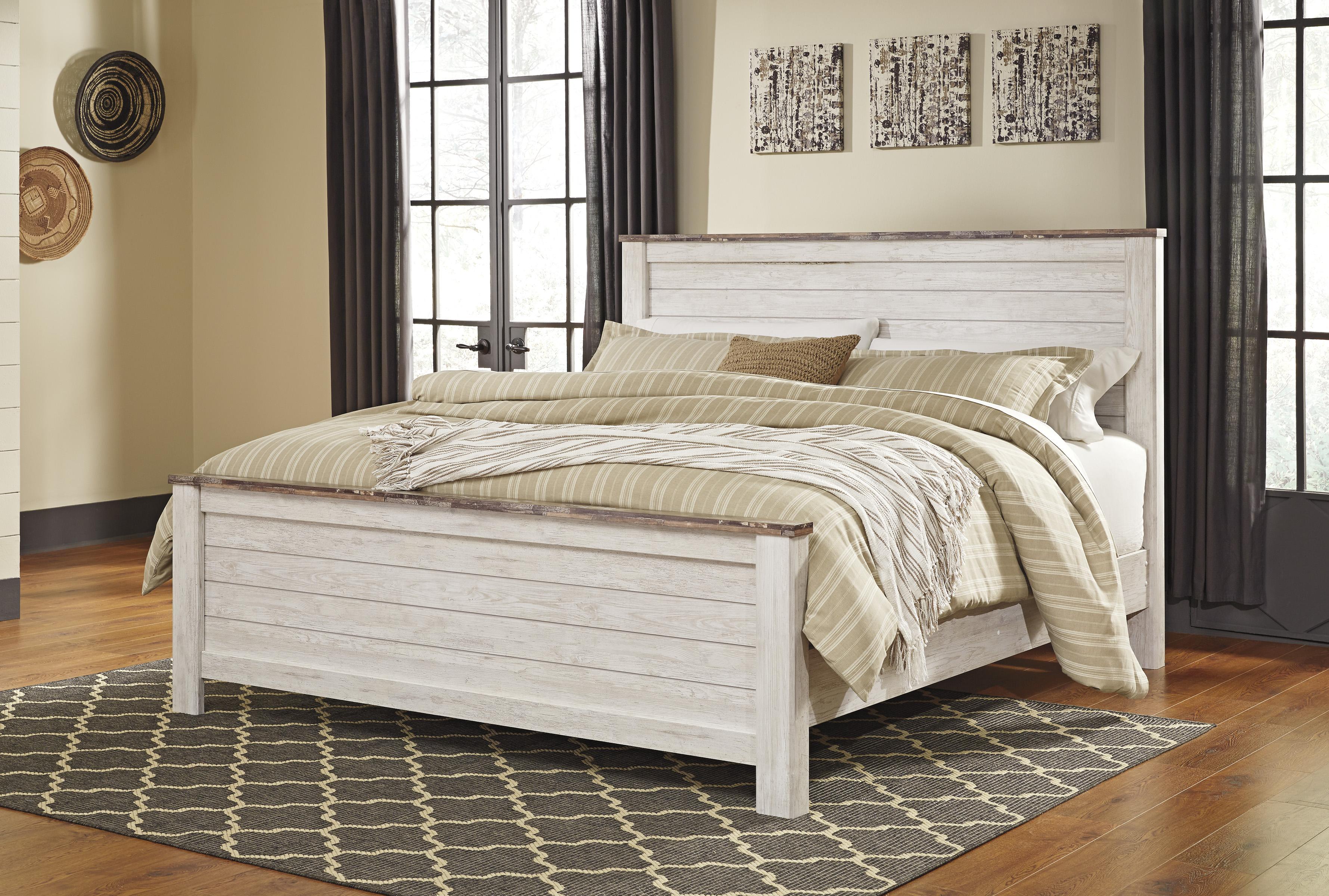 Willowton Whitewash Bedroom Set Clearance Sale Marjen