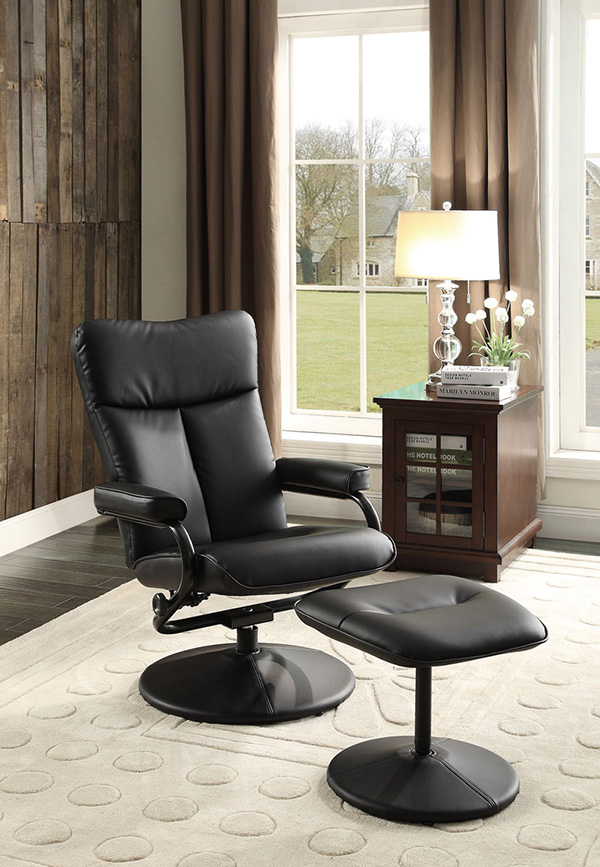 Homelegance Alida Swivel Reclining Chair W Ottoman In