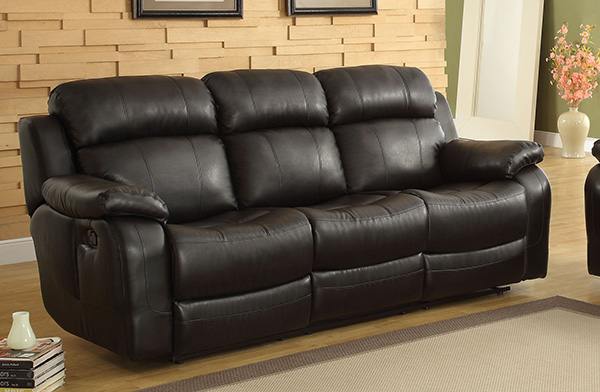 Homelegance Marille Double Reclining Sofa W Center Drop