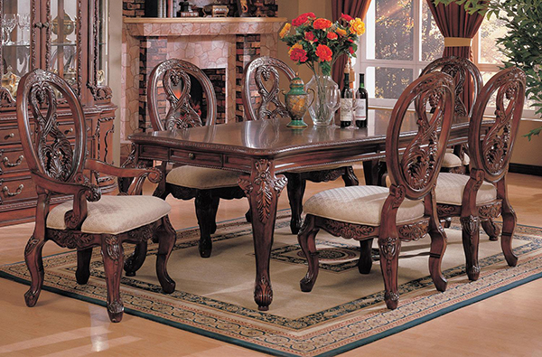 Nottingham 7 Piece Rectangular Leg Dining Table Amp Carved