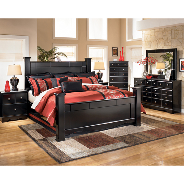 Ashley Shay Queen Poster Bed Marjen Of Chicago Chicago Discount Furniture