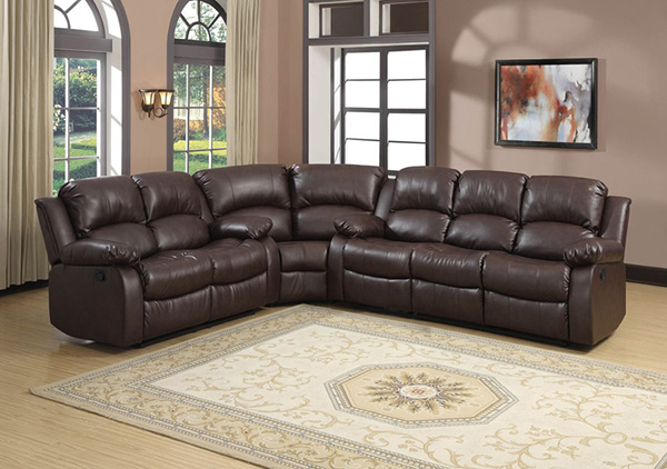 Homelegance 9700brw Cranley Brown Bonded Leather Double