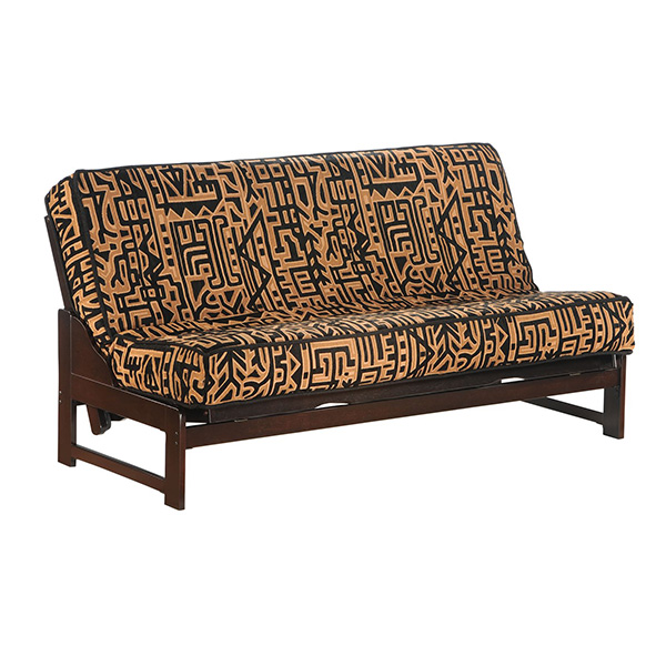 Eureka Full Futon Frame in chocolate finish