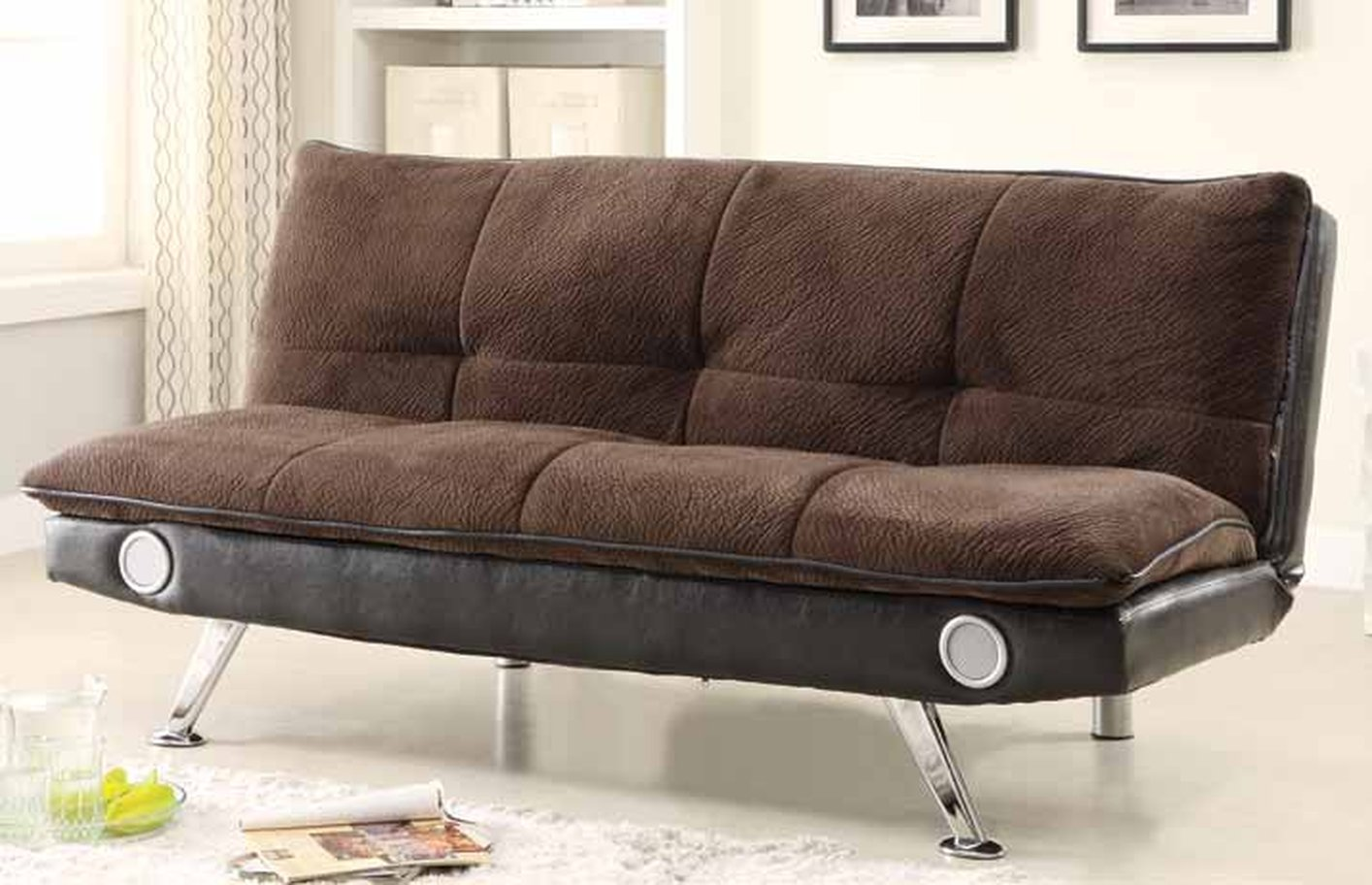 Braxton Brown Sofa Bed With Bluetooth Connectivity