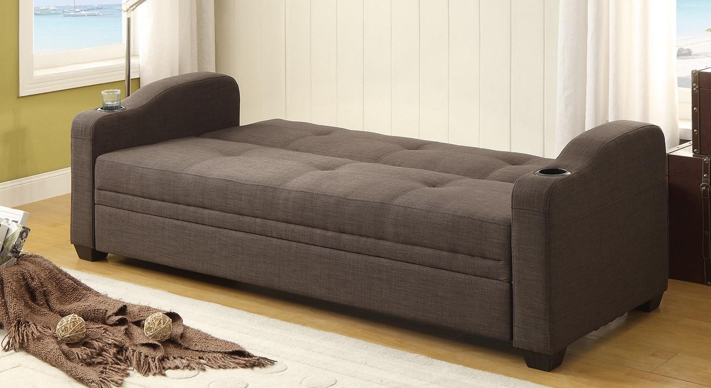 Homelegance Caffrey Elegant Lounger Sofa Bed - Dark Grey ...