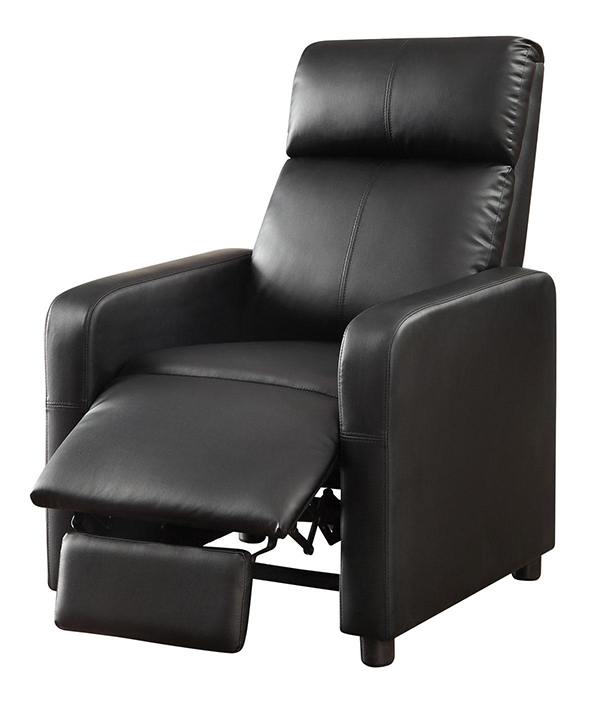 Reeva Black Recliner | Marjen of Chicago | Chicago Discount