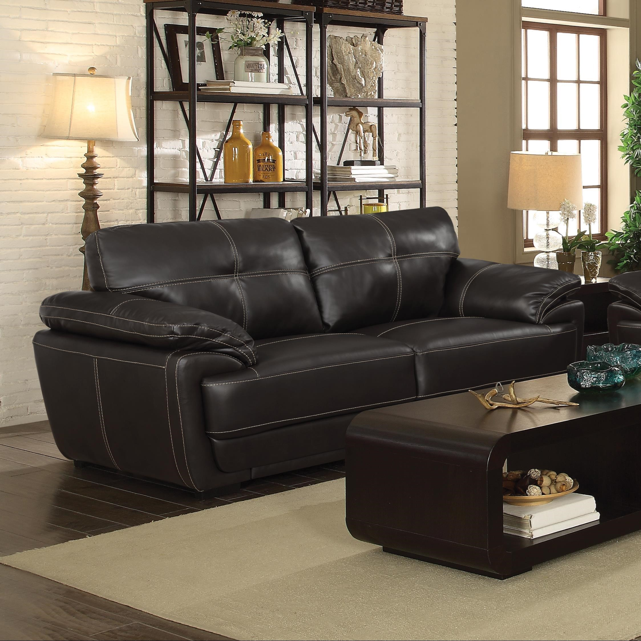 Furniture Websites With Free Shipping: Zenon Brown Sofa + Free Shipping! CLEARANCE SALE
