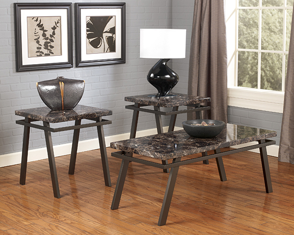 Paintsville 3 Piece Occasional Table Set tubular metal in