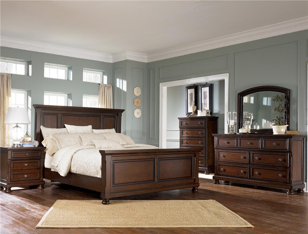 Ashley b697 54 57 96 31 36 porter bedroom collection marjen of chicago chicago discount for Ashley furniture bedroom suites